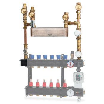Model LTV + gescheiden systeem 4-pijps + koelventiel